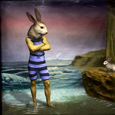 Maggie Taylor, Man Pretending to be a Rabbit, 2003