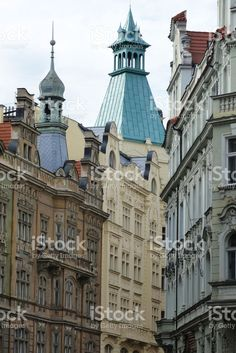 Typical buildings in the center of Prague foto stock royalty-free