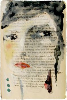 This is cool. Drawn right inside a page of a book. Cheap way to make an art journal.