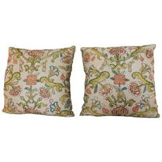 Pair of Turkish Embroidery Pillows