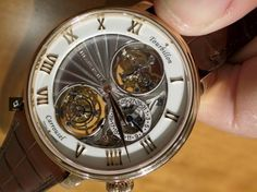 Blancpain made the first watch with a Tourbillon (at twelve) and a Carrousel (at six)