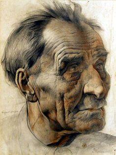 Male Face Drawing, Life Drawing, Figure Drawing, Old Man Portrait, Portrait Art, Portrait Sketches, Pencil Portrait, Old Man Face, Art Visage