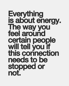 Everything is about energy