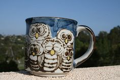 Vintage Family of OWLS Mug by HeirloomHomeGoods on Etsy, $15.00