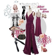 Designer Clothes, Shoes & Bags for Women Old Hollywood Style, Old Hollywood Glamour, Purple Lace, Plum Purple, Evening Gowns, Classic Style, Style Inspiration, Fantasy, Formal Dresses