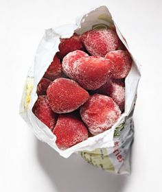 frozen strawberries...Am i the only one who eats these straight out of the freezer? Soooo good!!