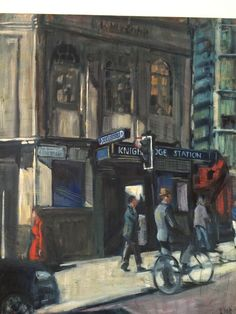 Knightsbridge Underground by Lucy Dickens. At Osborne Studio Gallery until 13th May.