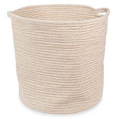 Weicher Korb aus Baumwolle und Jute WHITE ISLAND