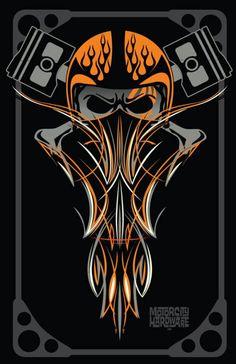 Ideas for bobber motorcycle art posts Motorcycle Art, Bike Art, Pinstripe Art, Totenkopf Tattoos, Pinstriping Designs, Garage Art, Desenho Tattoo, Kustom Kulture, Airbrush Art