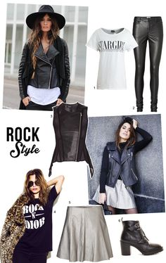 estilo rock, dulceida, madamederosa, rock and chic, cuero, chaleco de cuero, pantalones de cuero
