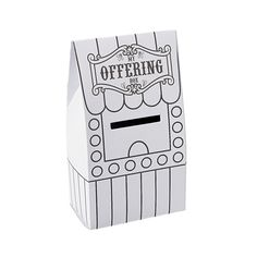 """Color Your Own """"Over The Top"""" Ticket Booth Offering Boxes - OrientalTrading.com"""