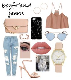 """Boyfriend Jeans"" by artective ❤ liked on Polyvore featuring TIBI, Topshop, H&M, Charlotte Olympia, Jennifer Zeuner, Christian Dior, Nine West, Concrete Minerals, Lime Crime and Recover"