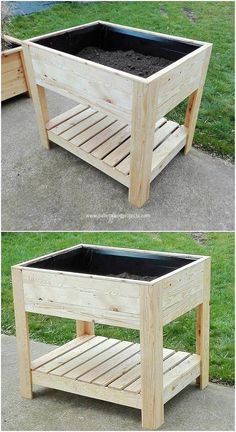 This is another unique but some sort of interesting creation of the used shipping wood pallets for your house. This creation shows the best brilliance into it by showing off the planter stand on top of it. How you will be making the use of this creation set? Add it in your garden now!