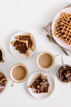 Nutella Smothered Sourdough Waffles by Faring Well #Vegan