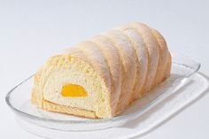 「夏のマンゴーケーキ」(マイスターシュトュック) Roll Cakes, Cake Rolls, Patterned Cake, Mango, Bread, Souvenir, Mince Pies, Manga, Brot