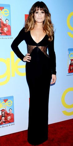 Lea MIchele in Versace at Glee Season Premiere