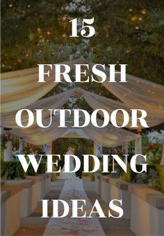 283 Best Outdoor Wedding Ideas images in 2020 | Wedding, Wedding ...