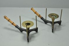 RARE Mid-Century Modern Candle Holders by Carl Aubock Made in Austria