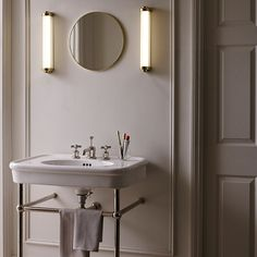 Davey Lighting launches a range of new bathroom and outdoor lights, including the 'Cabin LED' wall light, inspired by an original Davey design from the Bathroom Pendant Lighting, Bathroom Lighting Design, Bathroom Ceiling Light, Bathroom Lamps, Pillar Lights, Glass Wall Lights, Davey Lighting, Cabin Lighting, Lighting Ideas