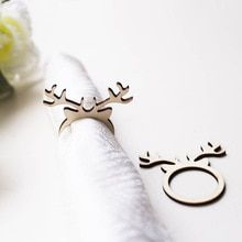 Rustic Wedding Napkin Rings,Christmas reindeer ,Reindeer Napkin Rings,Laser Cut Antler place setting,personalised napkin ring,(China)