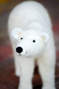 Polar Bear  Sculpture Needle Felted Animal Art by BearCreekDesign, $200.00   This is an amazing shop with stunning work!!!