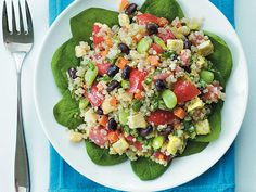 Black Bean-Quinoa Salad with Basil-Lemon Dressing   We're dishing up new brown-bag classics for your lunch hour.