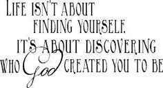 What has God created you to be