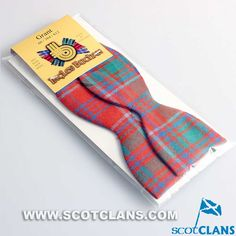 Clan Grant Wool Tartan Self Tie Bow tie