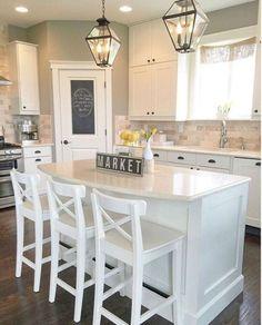 21 Gorgeous Modern Farmhouse Kitchen Cabinets Decor Ideas