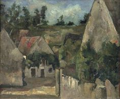Crossroad of the Rue Remy, Auvers. Oil on canvas. Musée d'Orsay, Paris, France Gallery of artworks by Paul Cézanne Cezanne Art, Paul Cezanne Paintings, Paul Cézanne, Oil On Canvas, Canvas Art, Modern Impressionism, Free Art Prints, Painting Gallery, Art