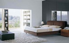 Decorating Master Bedroom Ideas- love the dark wall behind the bed!