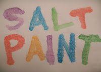 Homemade Mamas: Salt Paint