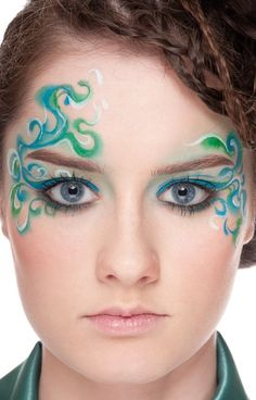 Image detail for -Carnival Make-up blue eyes blue green as Zoom » Cosmetics » Gallery ...