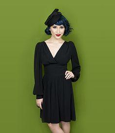 Trashy Diva Bianca Dress | Vintage Inspired Dress | Black CDC