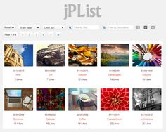 jPList – jQuery Plugin for Sorting, Pagination and Filtering Any HTML Structure. https://jplist.com