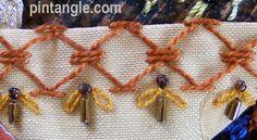 Crazy Quilt seam detail 499 via Pintangle.com