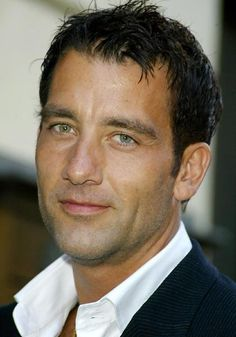 "Clive Owen. My man crush. ""Have you ever seen a human heart? It looks like a fist, wrapped in blood!"" - Larry"