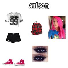 http://www.polyvore.com/cgi/app by kikab68 on Polyvore featuring beauty, Aéropostale, Boohoo and Converse