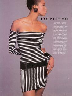 US Vogue March 1987 | Stripe It Up!