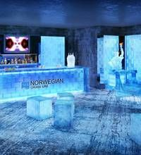 Norwegian Breakaway's proposed ice bar.  Can't wait to try it.
