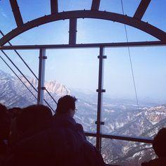 "@Graham Budd's photo: ""From the top of the cable car on #Seoraksan. #sokcho #korea #southkorea #visitkorea #view #mountains #속조 #한국"""