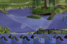 Mod The Sims - Maxis' plesiosaur as small or big deco