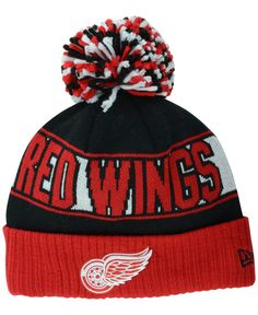 New Era Detroit Red Wings Rep Your Team Pom Knit Hat