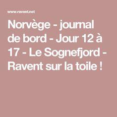 Norvège - journal de bord - Jour 12 à 17 - Le Sognefjord - Ravent sur la toile !