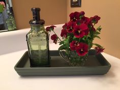 Be extravagant!  Cut some flowers, place in a crystal creamer, and place it in your bathroom.  Enjoy!