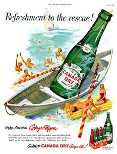Canada Dry Vintage Ad, 1952