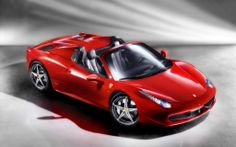 Ferrari 458 spider, definitely stunning with its sparkling red.