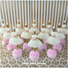 Wedding dress chocolate covered Oreo's!  You retry in blush, gold and ivory!