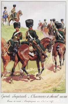 French Chassuer a Cheval of the Imperial Guard 1804-15