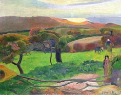 Landscape in Brittany, by Paul Gauguin